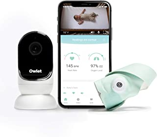 Owlet Baby Monitor Duo - New Smart Sock 3 + HD Video Cam - Tracks Heart Rate, Oxygen, and Sleep Trends from Anywhere, Plus...