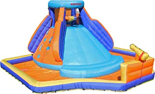 Sportspower Battle Ridge Inflatable Water Slide with Water Cannons and Climbing Wall