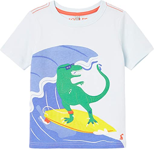 Blue Surfing Dino