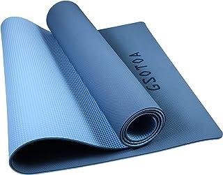GSOTOA Gymnastiekmat, Pilates Yogamat Antislip, Fitnessmat met Draagriem en Tas, Milieuvriendelijke TPE-sportmat, Dikte 6m...