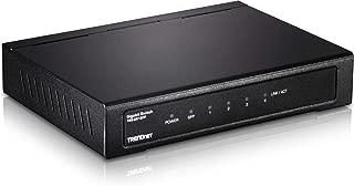 TRENDnet 4-Port Gigabit Switch with SFP Slot, 10 Gbps Switching Capacity, Fanless, Metal Housing, Magnet Mount, Lifetime Protection, TEG-S51SFP