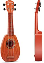SAOCOOL Kids Guitar, 17 inch Kids Ukulele Guitar Child Guitar Toy, 4 String Toy Guitar The Best Childrens Guitar Gift for Girls and Boys (Sequoia Color)