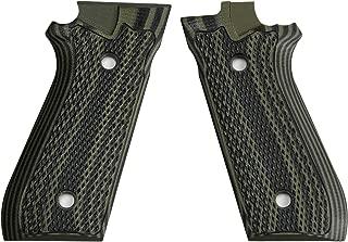 StonerCNC Taurus PT92 Grips Full Checker G10 Gun Grips fitPT 92 Taurus Pistol with Decocker