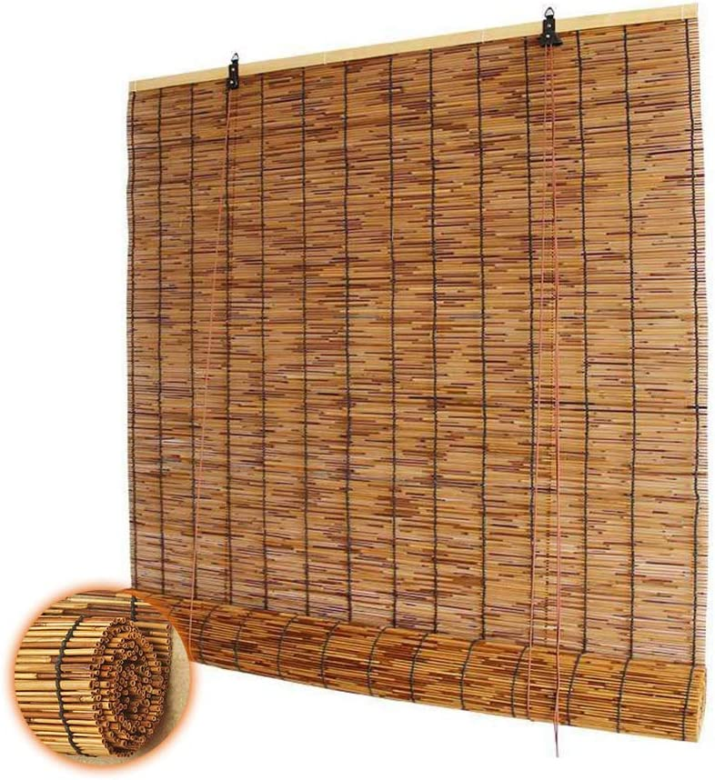 Glopo Outdoor Reed Blinds Natural 高品質 Bamboo 特売 Roller Roman Shades Cur