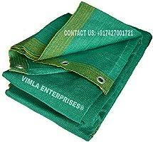 VIMLA ENTERPRISES® 5 M x 50 M (16 FT x 165 FT) Green Shade Net 90% UV Protected for Terrace, Garden, Green House,...
