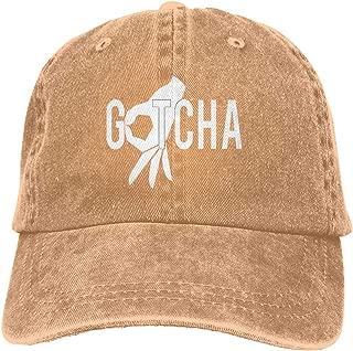 Pillow Hat Gotcha Finger Adjustable Vintage Washed Distressed Baseball Dad Hats Cap Navy