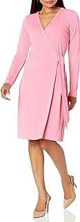 Marca Amazon - Lark & Ro New Clean Wrap Dress Mujer