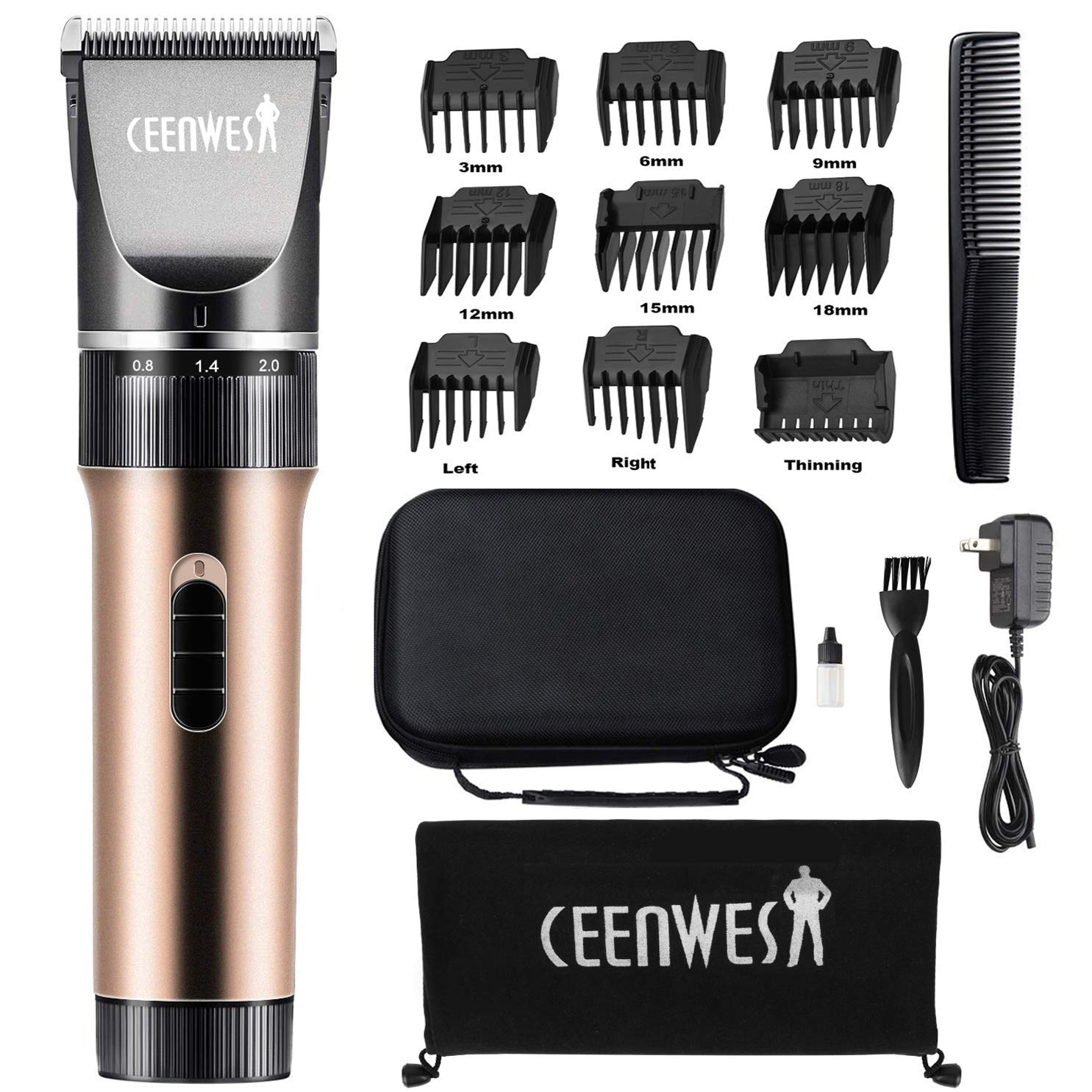 Ceenwes Clippers Cordless Trimmers Rechargeable