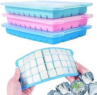 Wanap 3 stuks ijsblokjesvorm siliconen, 36-vaks ijsblokjeshouder om in te vriezen, 108 ijsblokjes voor koelkast, magnetro...