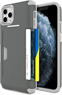 [2019] for iPhone 11 Pro Max, PATCHWORKS ✔Military Grade Certified ✔Anti-Slip ✔Dual Layer Protection ✔Impact Resistant ✔Up to 3 Cards Slot [Level Wallet Series], Gray