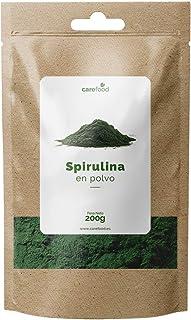 Espirulina ecológica en polvo 200gr Carefood 100% Orgánica | Alga Spirulina Platensis Apta para veganos | Superalimento Ecológico