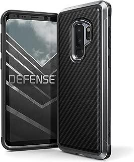 X-Doria Galaxy S9 Plus Case, Defense Lux Premium Protective Aluminum Frame Thin Design Shockproof Case for Samsung Galaxy S9 Plus, Black Carbon Fiber