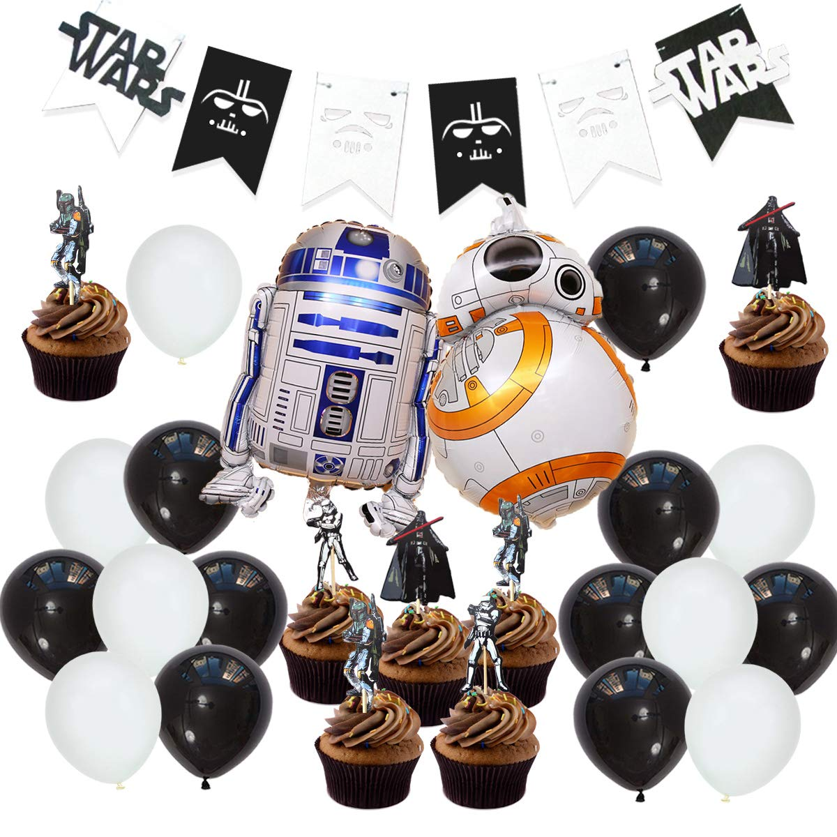 Swell Star Wars Party Supplies Decorations Star War Bunting Banner Personalised Birthday Cards Fashionlily Jamesorg