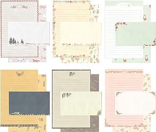 مجموعه ای از نامه های کاغذ نوار لوازم التحریر زیبا با نوار 24 پاکت / پاکت (10)