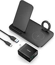Anker Wireless Charging Station With Power Adapter for Apple Products, PowerWave 3 in 1 Qi-Certified Stand for Apple iWatch, iPhone 12, 12 Mini, 12 Pro, AirPods Pro (Watch Charging Cable Not Included)