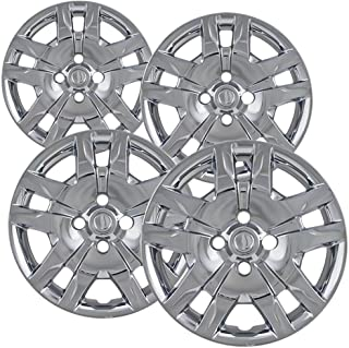 16 inch Hubcaps Best for 2010-2017 Nissan Sentra - (Set of 4) Wheel Covers 16in Hub Caps Chrome Rim Cover - Car Accessories for 16 inch Wheels - Snap On Hubcap, Auto Tire Replacement Exterior Cap)