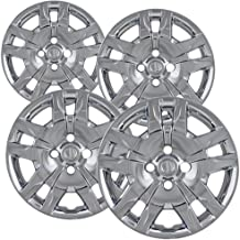 Hubcaps 16 inch Wheel Covers - (Set of 4) Hub Caps for 16in Wheels Rim Cover - Car Accessories Chrome Hubcap Best for 16inch Cars Standard Steel Rims - Snap On Auto Tire Replacement Exterior Cap