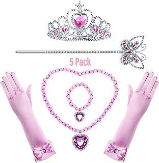 Princess Cinderella/Rapunzel/Aurora/Elsa Generic Costume Accessories Set for Toddler Girls Dress Up Birthday Party