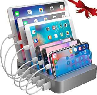 Hercules Tuff Charging Station Organizer for Multiple Devices – 6 Short Mixed..