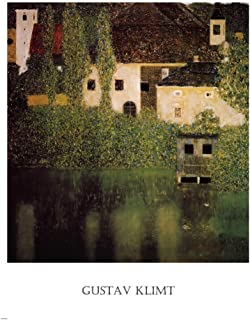 Unterach Manor and Lock Chamber on The Attersee Lake, c.1908 by Gustav Klimt Art Print, 25 x 34 inches