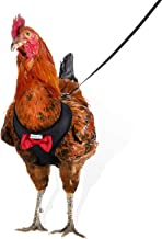 Yesito Chicken Harness Hen Size with 6-Foot Matching Belt, Comfortable, Breathable, Small Size, Suitable for Chicken, Duck or Goose Suitable for Weight About 2.3-3.8Pounds, Orange