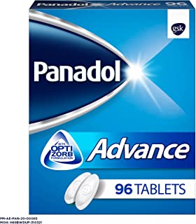 Panadol Advance with Optizorb for Fast Pain Relief for Headaches, Toothaches & Period Pain, 96 Tablets