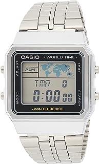 Casio Standard For Women Digital Stainless Steel Band Watch A500Wa 1, Quartz