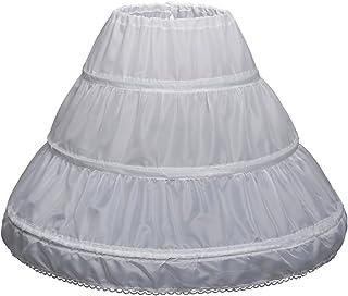 Girls' 3 Hoops Petticoat Full Slip Flower Girl Crinoline...