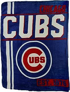 Northwest MLB Chicago Cubs Retro 1867 Micro Raschel Plush Throw Blanket