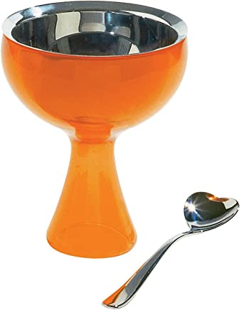 Alessi Big Love Ice Cream Bowl & Spoon Set Orange
