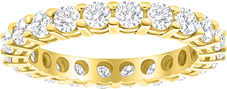 3 Carat ctw 14K White Gold Weddi Ladies Diamond Sale special price Eternity Max 62% OFF Round