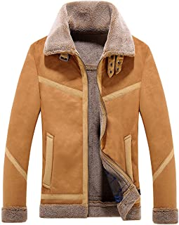 Best suede brown fur collar leather jacket Reviews