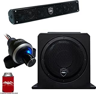 Wet Sounds Stealth 6 Surge Sound Bar w/WW-BTVC Bluetooth Controller and AS-10 10