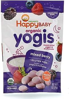 Happy Family Organics, Organic Yogis, Freeze Dried Yogurt & Fruit Snacks, Mixed Berry, 1 oz (28 g)