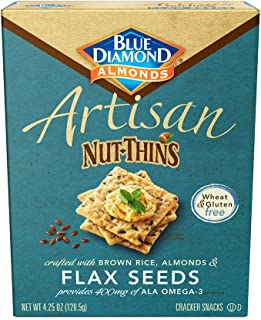 Blue Diamond Almond Cracker Crisps, Flax Seed, 4.25 oz