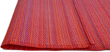 Reversible Outdoor Rug Chatai Rongoli Red 90x150cm