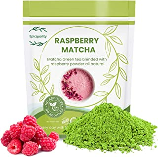 Matcha Green Tea Powder | blended with Natural raspberry powder | Immunity Support | High Antioxidants, Amino Acids | Anxi...