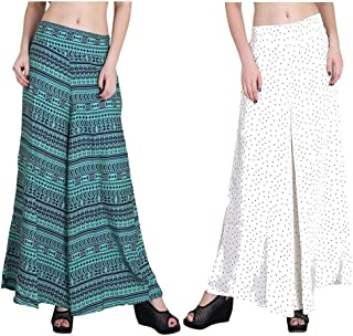 Fraulein Women's/Girl's Palazzos Wide Leg Opening Bottom Palazzos/Trousers with One Pocket and Mesh Inner Lining (Size-S,M...