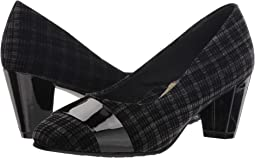 Black Plaid Velvet/Patent