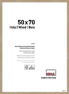 Deha Design - Marco de fotos Fontana, MDM acrílico madera, roble, 50 x 70 cm
