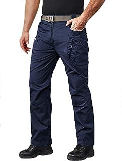 MAGCOMSEN Men's Outdoor Pants with 8 Pockets Lightweight Combat Tactical Pants Ripstop Cargo Hiking Pants