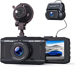 Campark Dash Cam Front and Rear Dual 1080P Car Camera with 340° Wide Angle Recording 3 Inches Night Vision Loop Recording G-Sensor, Max Support 128GB