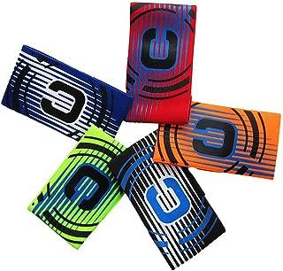 Wrzbest Soccer Football Captain's Armband Captain Armbands for Multi Sport - Pack of 5 Colour