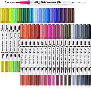36 Couleurs Feutres Aquarelle, Ohuhu Art Double Marqueurs au Coloriage Stylo Pinceau Pointe Fine Couleur, De Marqueur Base...
