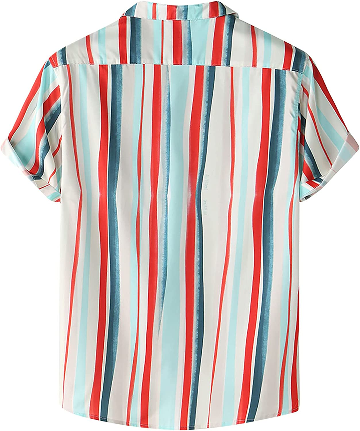Mens Button Shirts OFFicial site Breathable Phoenix Mall Striped Loo Print Collar Turn Down