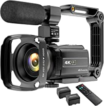 Video Camera Camcorder 4K 48MP YouTube Camera WiFi Digital Camera Vlogging Camera Vlog Video Camera Camcorder Night Vision...