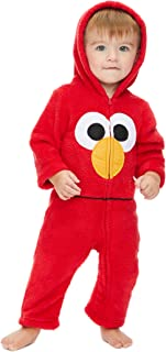 Sesame Street Elmo Cookie Monster Baby Boys' Zip-Up Hooded Costume Coverall with Footies