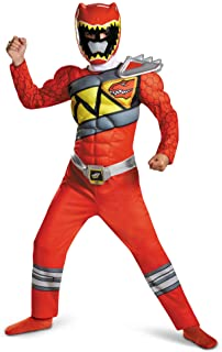 Power Rangers Muscle Costume for Boys Red Dino Charge Classic Kids Beast Morphers Ninja Dinosaur Red Ranger for Kids