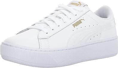 Amazon.com | PUMA Unisex-Adult Vikky Platform Leather Sneaker ...
