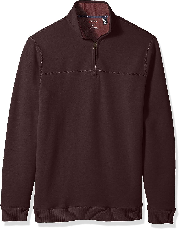 Arrow 1851 mens Big and Tall Saranac Long Sleeve 1/4 Zip Sueded Fleece Pullover